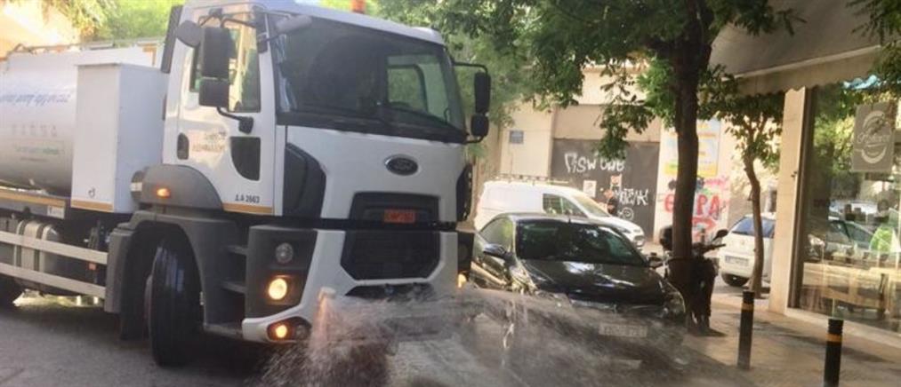 """""""Άστραψε"""" από καθαριότητα γειτονιά της Αθήνας"""