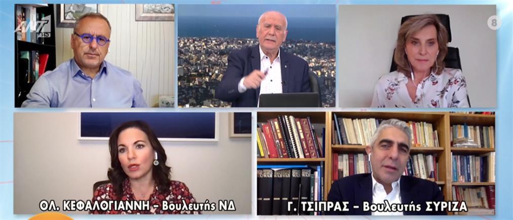 Κεφαλογιάννη - Τσίπρας στον ΑΝΤ1 για τον κορονοϊό, τις πορείες και τις ΜΕΘ (βίντεο)