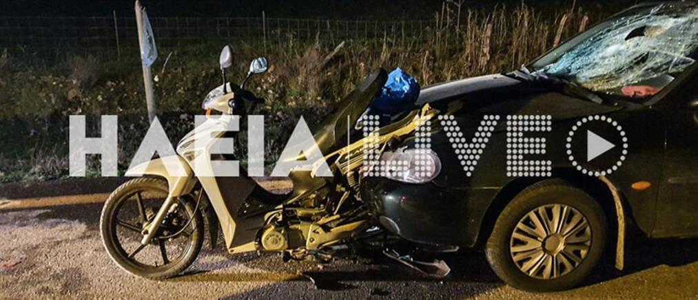 """Νεκρός οδηγός μηχανής που """"καρφώθηκε"""" σε παρμπρίζ ΙΧ (εικόνες)"""