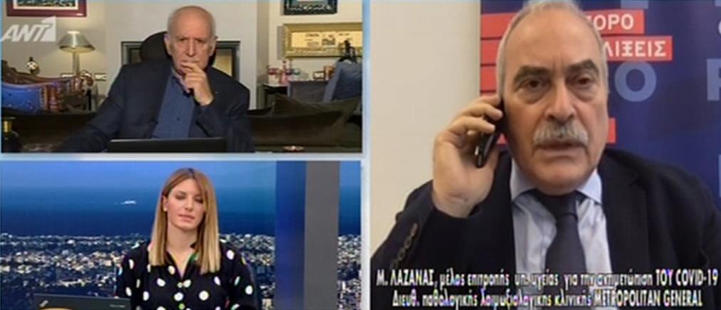 Λαζανάς στον ΑΝΤ1: ο κορονοϊός επιβιώνει έως 72 ώρες πάνω σε αντικείμενα (βίντεο)