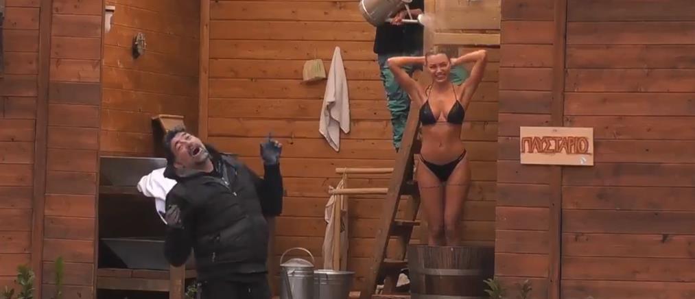 """""""Η Φάρμα"""": Το μπάνιο της Παναγιώταρου τρέλανε τον Ιατρόπουλο (βίντεο)"""