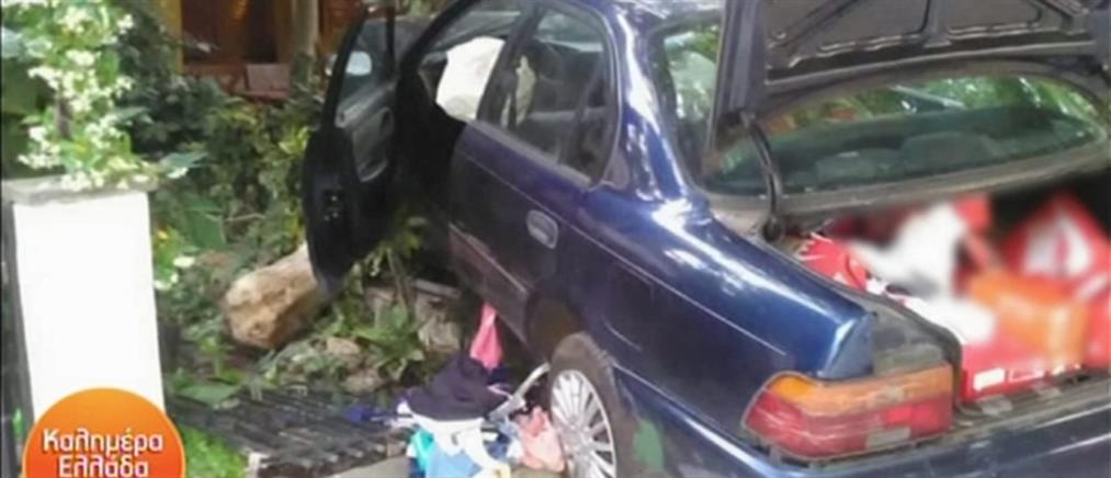 Αυτοκίνητο ληστών κατέληξε σε αυλές σπιτιών μετά από καταδίωξη (βίντεο)