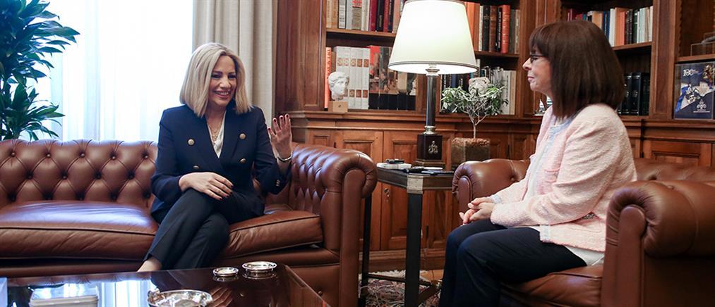 Σακελλαροπούλου – Γεννηματά: Εθνικά θέματα και οικονομία στην ατζέντα