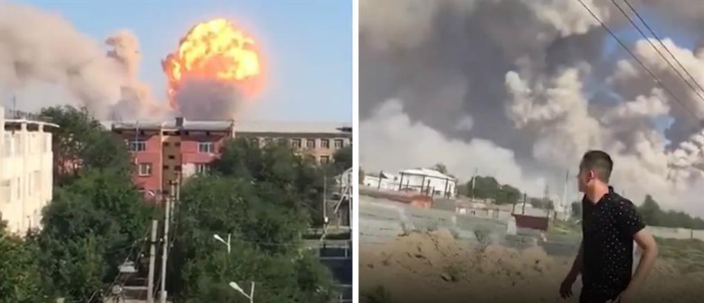 Φονική έκρηξη σε αποθήκη πυρομαχικών (βίντεο)