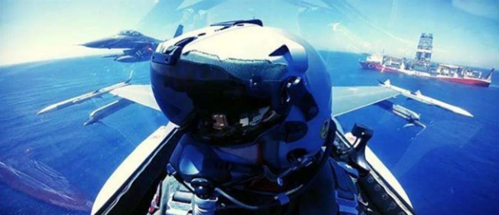 Προκλητική φωτογραφία τουρκικών F-16 πάνω από το Γιαβούζ