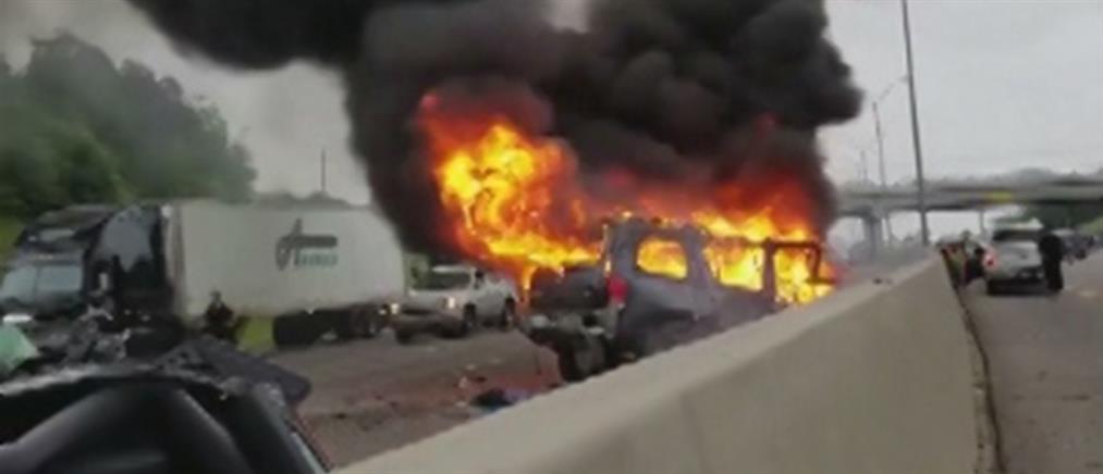 """Η """"τρελή"""" πορεία αυτοκινήτου σε αντίθετο ρεύμα και η μοιραία σύγκρουση (βίντεο)"""