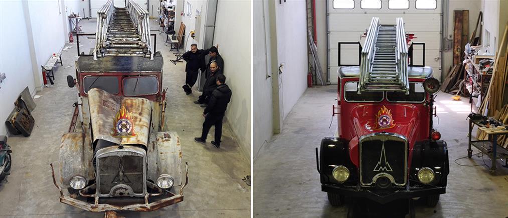 """""""Αναστήθηκε"""" το αρχαιότερο όχημα της Πυροσβεστικής (βίντεο)"""