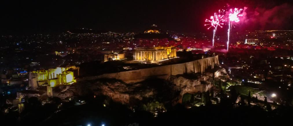 Φαντασμαγορική η υποδοχή του 2020 στην Αθήνα (εικόνες)