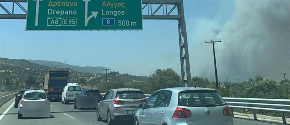 Γέφυρα Ρίου - Αντιρρίου: έκλεισε λόγω της φωτιάς στην Αχαΐα