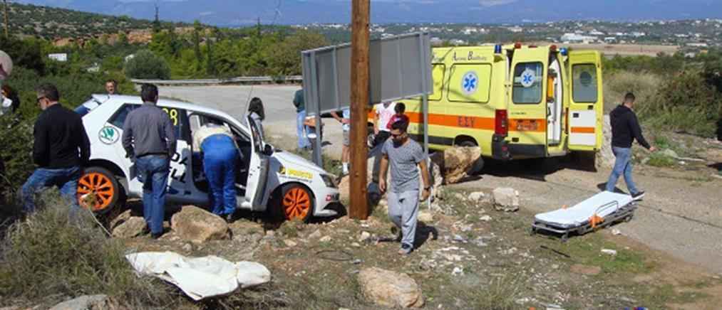 Τροχαίο με αγωνιστικό αυτοκίνητο στη Ριτσώνα - Στο νοσοκομείο 47χρονος θεατής! (εικόνες)