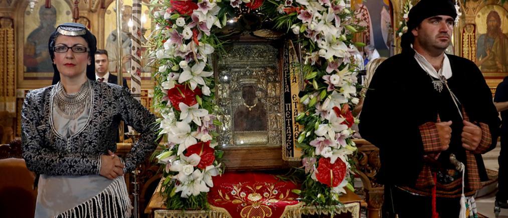Σε κλίμα κατάνυξης η πανηγυρική θεία λειτουργία στην Παναγία Σουμελά