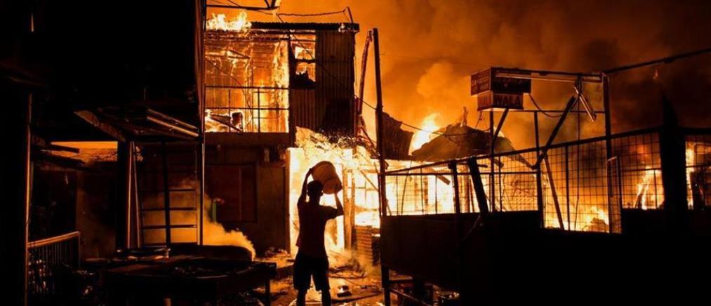 Χιλιάδες άστεγοι από πυρκαγιά σε παραγκούπολη της Μανίλα