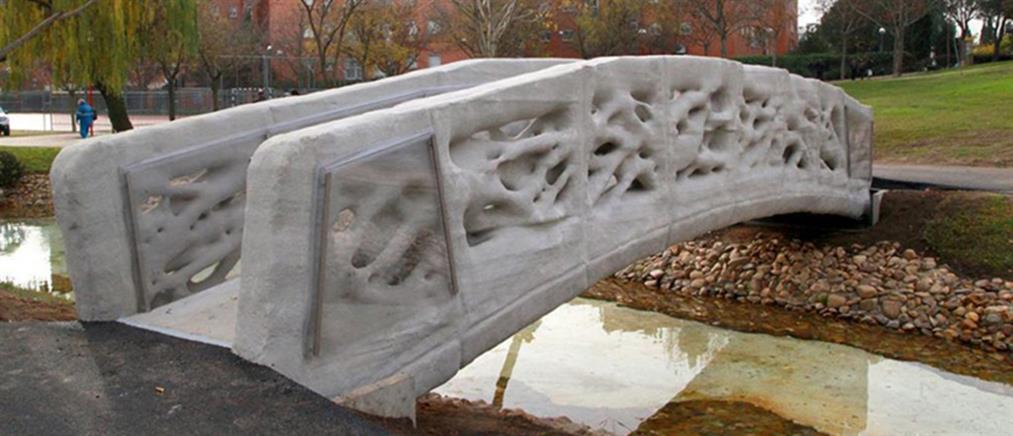 Η πρώτη 3D εκτυπωμένη πεζογέφυρα στον κόσμο είναι γεγονός! (φωτό & βίντεο)