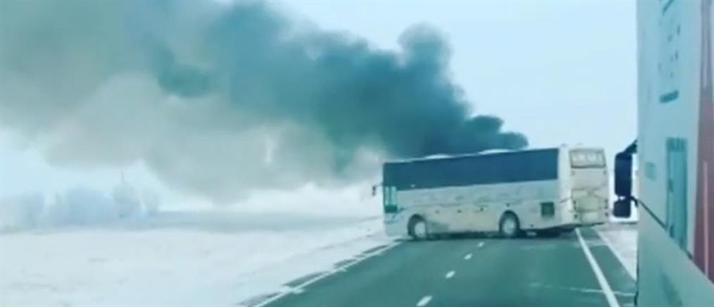 Δεκάδες νεκροί από φωτιά σε λεωφορείο (βίντεο)