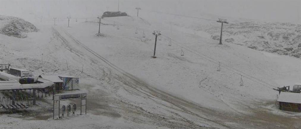 """Ο Παρνασσός έγινε... Ανταρκτική: """"Άγγιξε"""" τους -28 η θερμοκρασία"""
