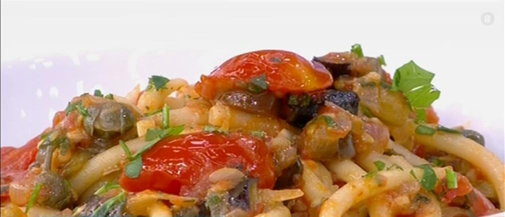 Συνταγή για νηστίσιμη μακαρονάδα με λαχανικά (βίντεο)