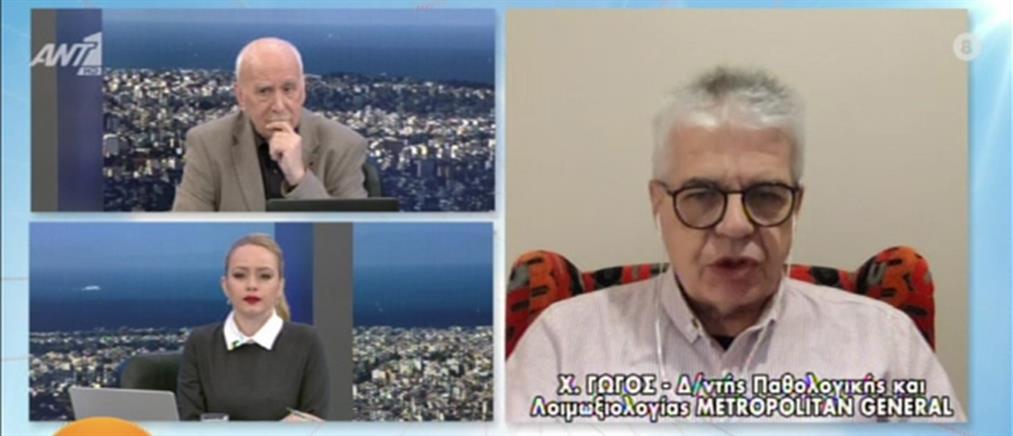 Κορονοϊός - Γώγος στον ΑΝΤ1: δεν αποκλείονται και νέα μέτρα (βίντεο)