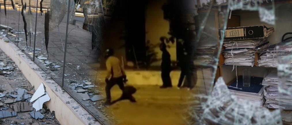 """""""Γυαλιά καρφιά"""" τα έκανε ο Ρουβίκωνας στην ΔΟΥ Ψυχικού (βίντεο)"""