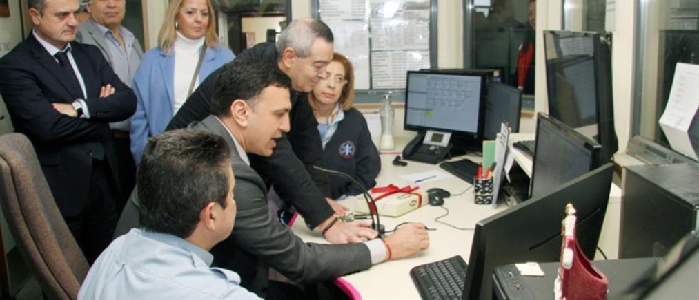 """Το """"Ιπποκράτειο"""" και το ΕΚΑΒ Θεσσαλονίκης επισκέφθηκε ο Βασίλης Κικίλιας (εικόνες)"""