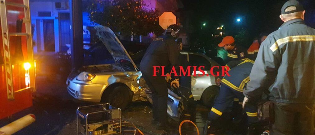 Αυτοκίνητο έπεσε σε βενζινάδικο (εικόνες)