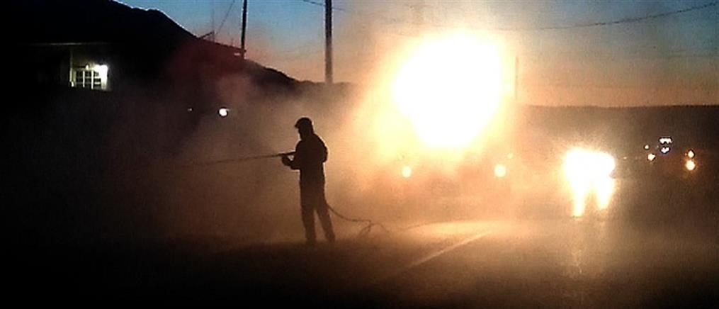 Θεσσαλονίκη: Πτώμα σε ΙΧ που τυλίχθηκε στις φλόγες