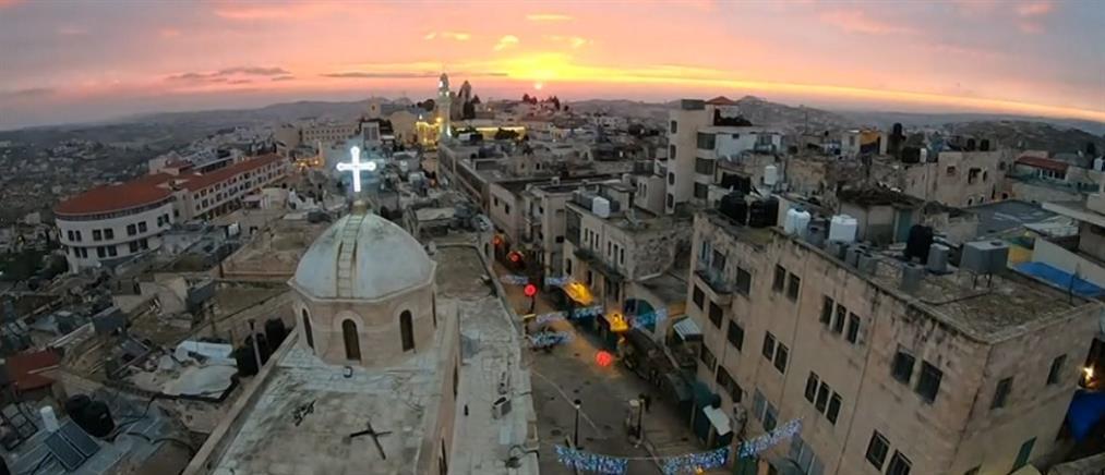 Χριστούγεννα στο Ναό της Γεννήσεως στη Βηθλεέμ (βίντεο)