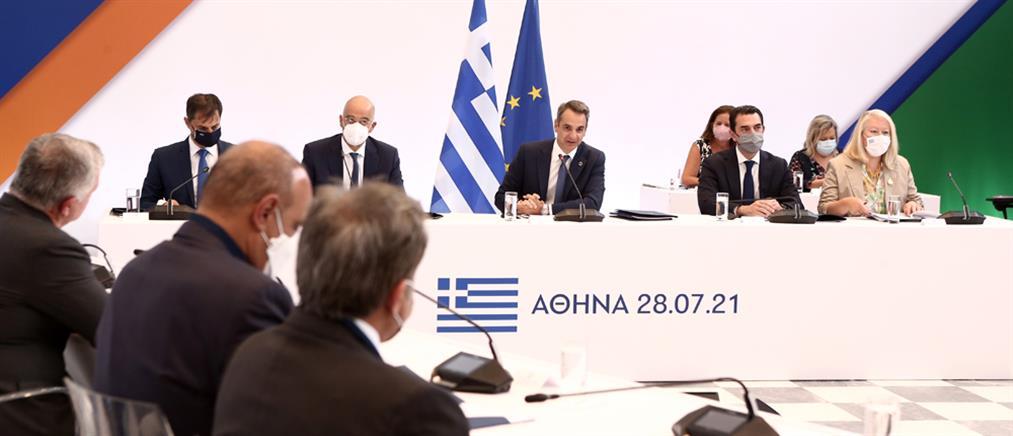 Μητσοτάκης: Ελλάδα, Κύπρος και Ιορδανία δεσμεύονται για την ειρήνη στην περιοχή