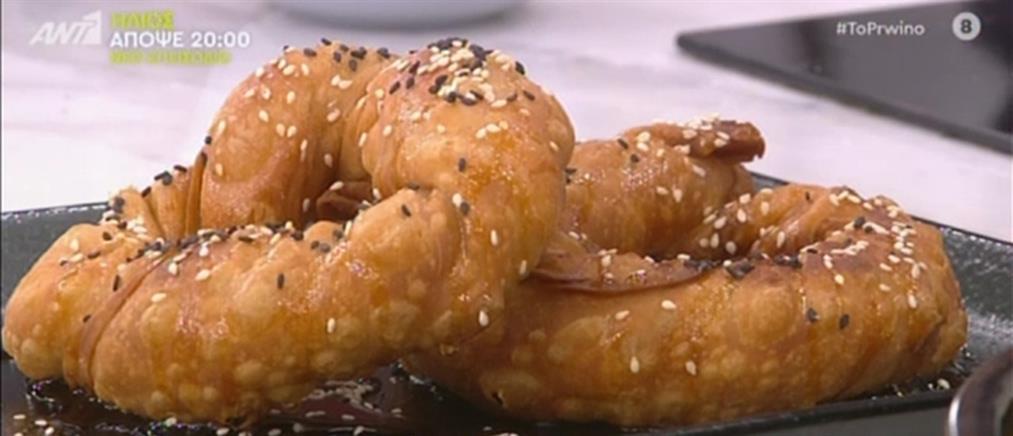 Στριφτόπιτα με φέτα και μανούρι από τον Πέτρο Συρίγο
