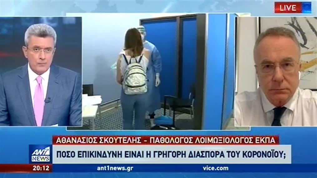 Κορονοϊός - Σκουτέλης στον ΑΝΤ1: ξεχάσαμε απότομα τα περιοριστικά μέτρα