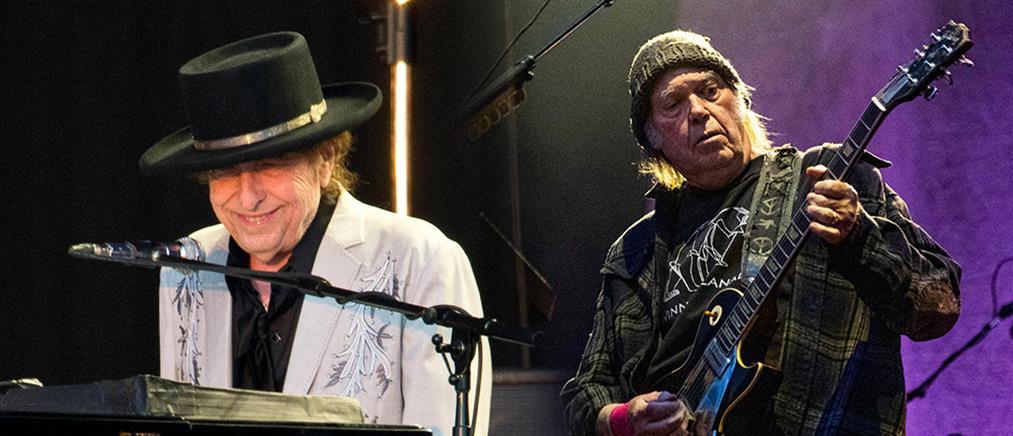 Μπομπ Ντίλαν και Νιλ Γιανγκ ξανά μαζί μετά από 25 χρόνια