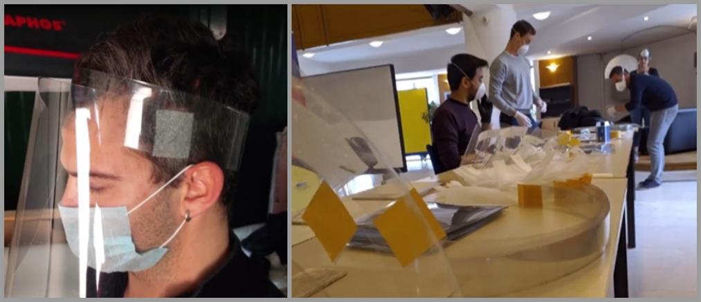 Εθελοντές έφτιαξαν χιλιάδες προστατευτικές ασπίδες για το ΕΣΥ (βίντεο)