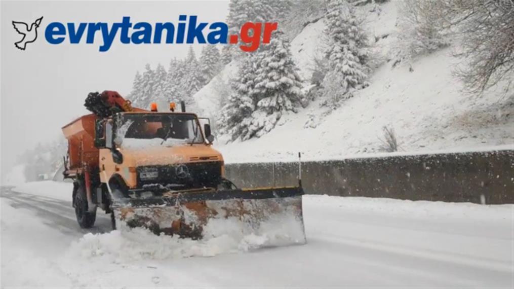 Χιόνια στην Ευρυτανία