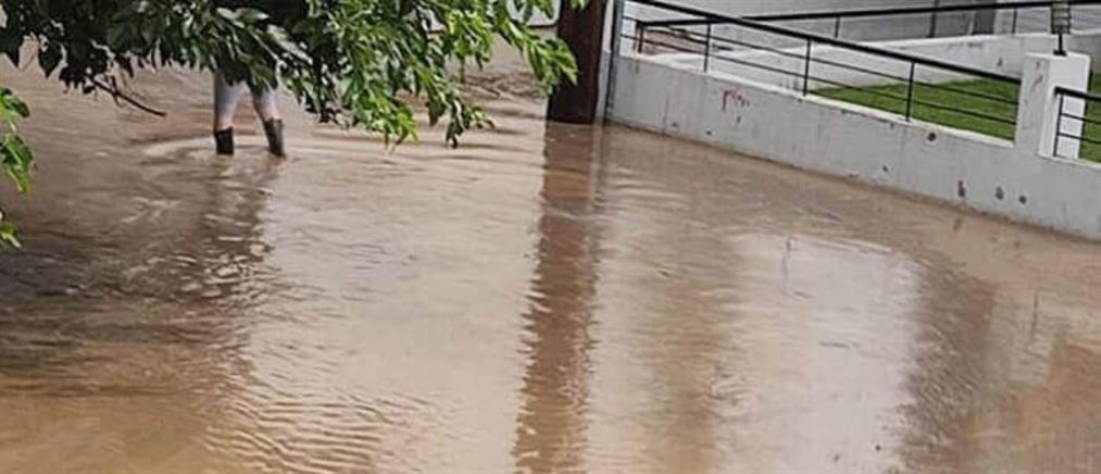Υπερχείλισε ποτάμι στις Σέρρες (βίντεο)