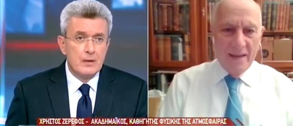 """""""Ιανός"""" - Ζερεφός στον ΑΝΤ1: δεν είναι πρωτόγνωρο το φαινόμενο των μεσογειακών κυκλώνων (βίντεο)"""