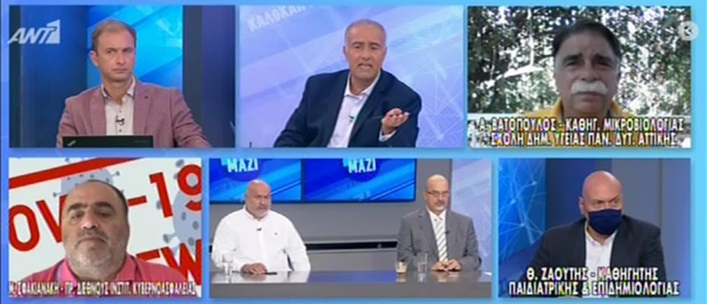 Βατόπουλος στον ΑΝΤ1 για κορονοϊό: να ελαχιστοποιήσουμε τις μεγάλες συγκεντρώσεις (βίντεο)