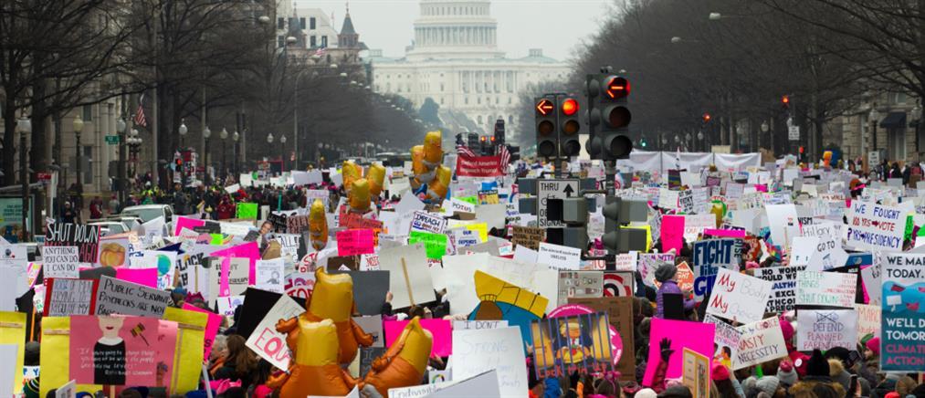 Στους δρόμους οι Αμερικανίδες κατά του Τραμπ (εικόνες)