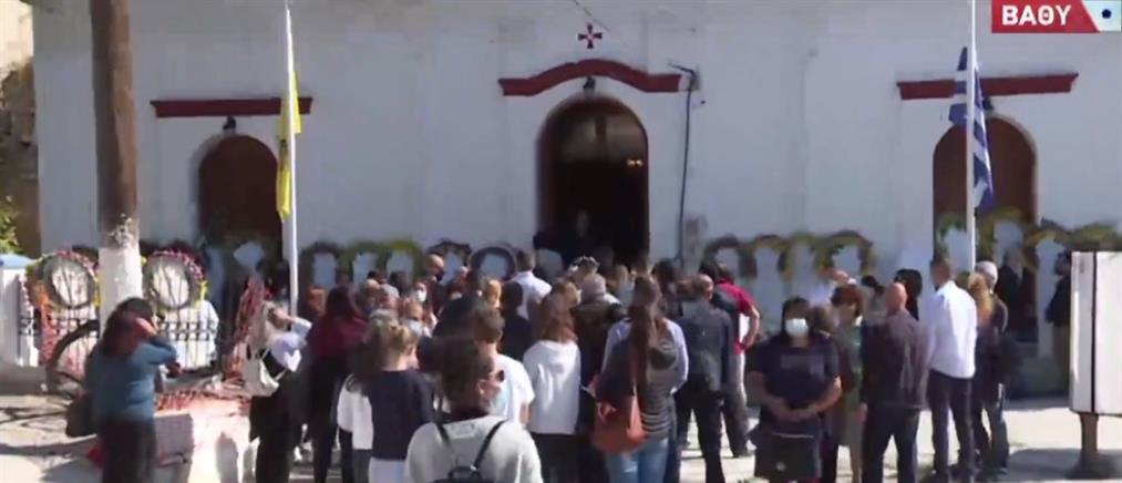 Σεισμός στην Σάμο: Σπαραγμός στην κηδεία της 15χρονης Κλαίρης