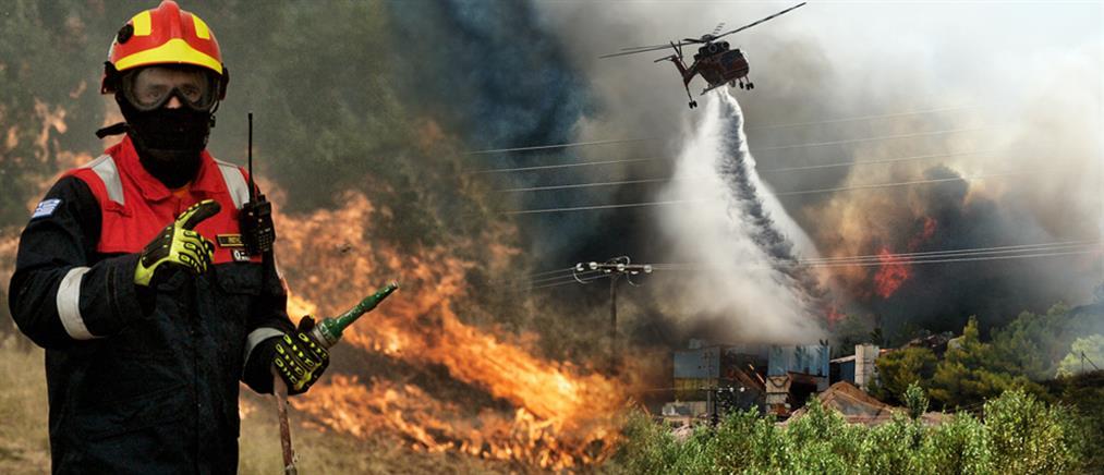Πολιτική κόντρα για την φωτιά στις Κεχριές