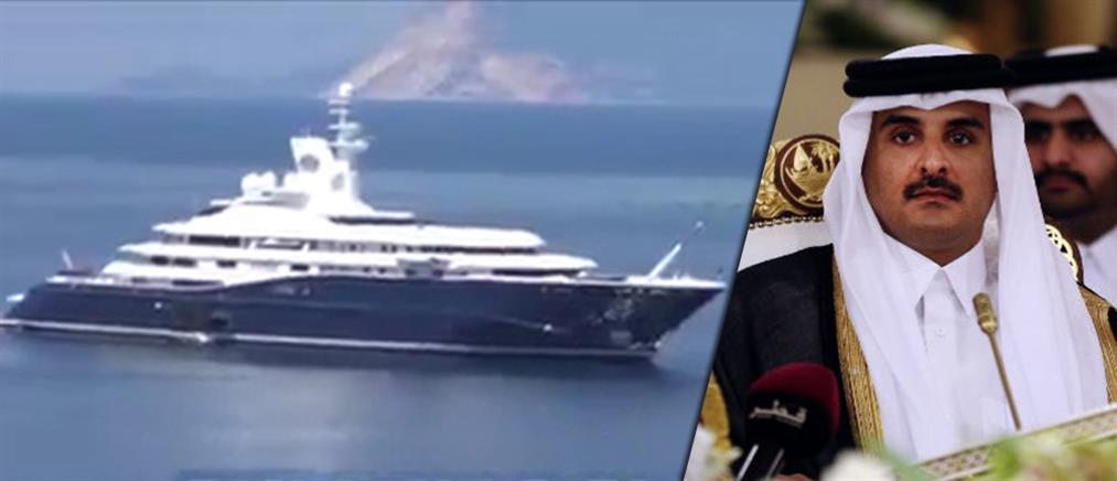 """Στη Σκιάθο με το πλωτό """"παλάτι"""" του ο σεΐχης του Κατάρ (βίντεο)"""