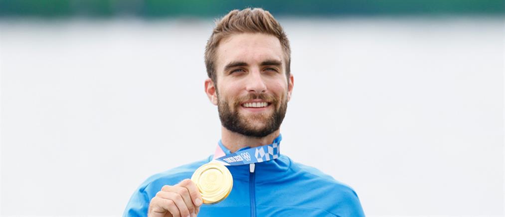 Ολυμπιακοί Αγώνες - Κωπηλασία: Ο Στέφανος Ντούσκος κατέκτησε το χρυσό μετάλλιο (βίντεο)