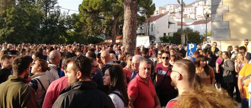 """Σάμος: """"Λαοθάλασσα"""" στο συλλαλητήριο για το μεταναστευτικό (εικόνες)"""