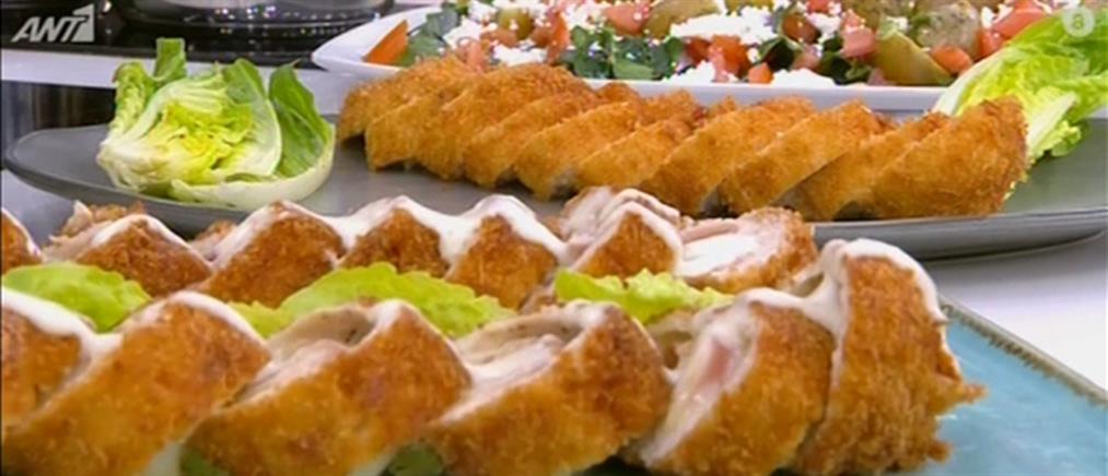 Kοτόπουλο cordon bleu από τον Πέτρο Συρίγο