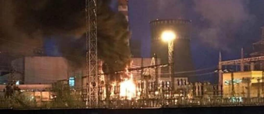 Συναγερμός μετά από πυρκαγιά σε πυρηνικό σταθμό της Ουκρανίας (βίντεο)