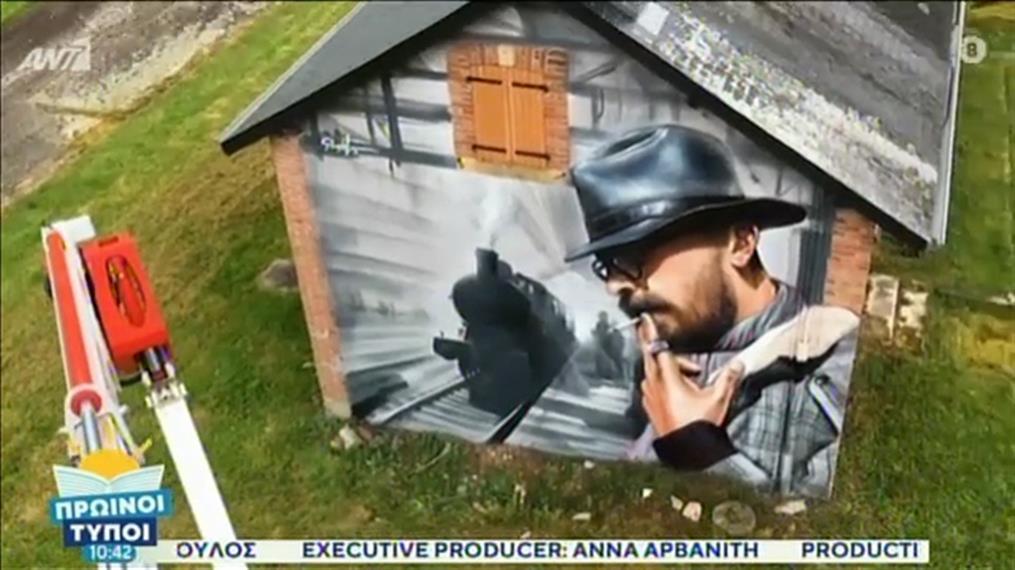 SimpleG: Οι viral τοιχρογραφίες του με σπρέι δίνουν χρώμα στην Αθήνα
