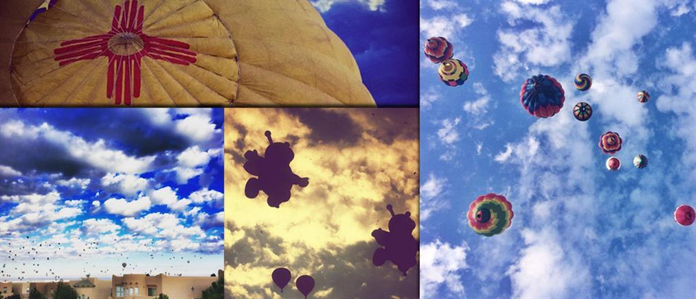 Υπερθέαμα με εκατοντάδες αερόστατα στον ουρανό του Νέου Μεξικού (βίντεο & φωτό)