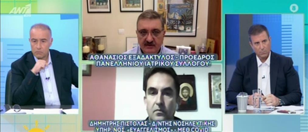Κορονοϊός - Εξαδάκτυλος στον ΑΝΤ1: εάν συνεχιστούν οι διακομιδές θα μπλοκάρει όλη η Ελλάδα (βίντεο)