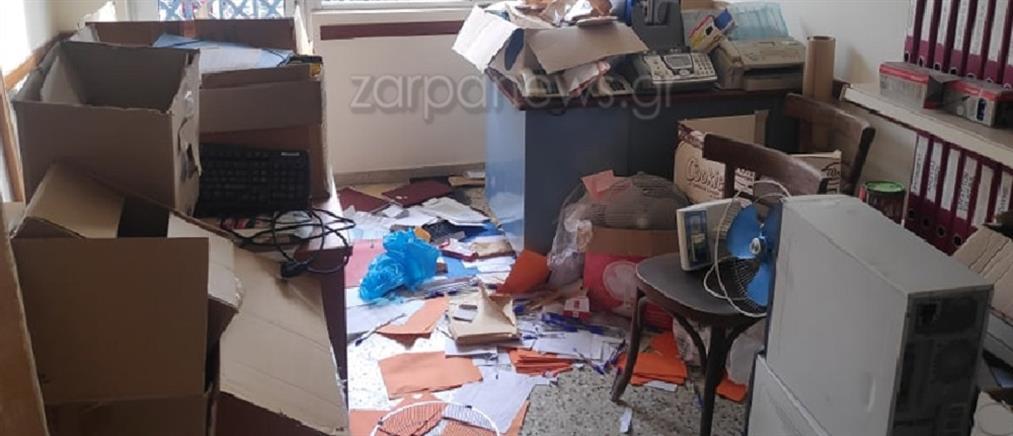 Διάρρηξη και βανδαλισμοί στο Εργατικό Κέντρο Χανίων (βίντεο)