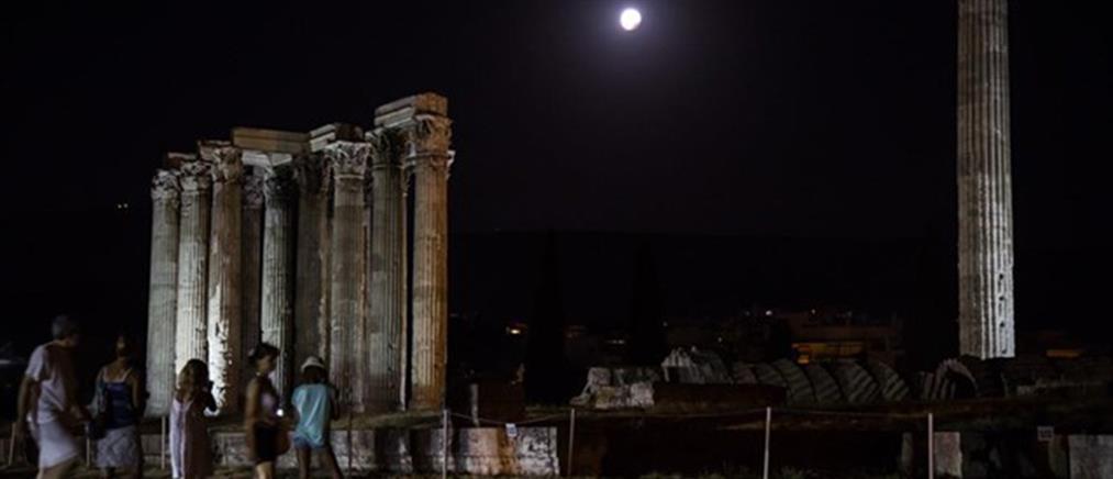 """Πανσέληνος """"παρέα"""" με μουσική απόψε στους Στύλους του Ολυμπίου Διός"""