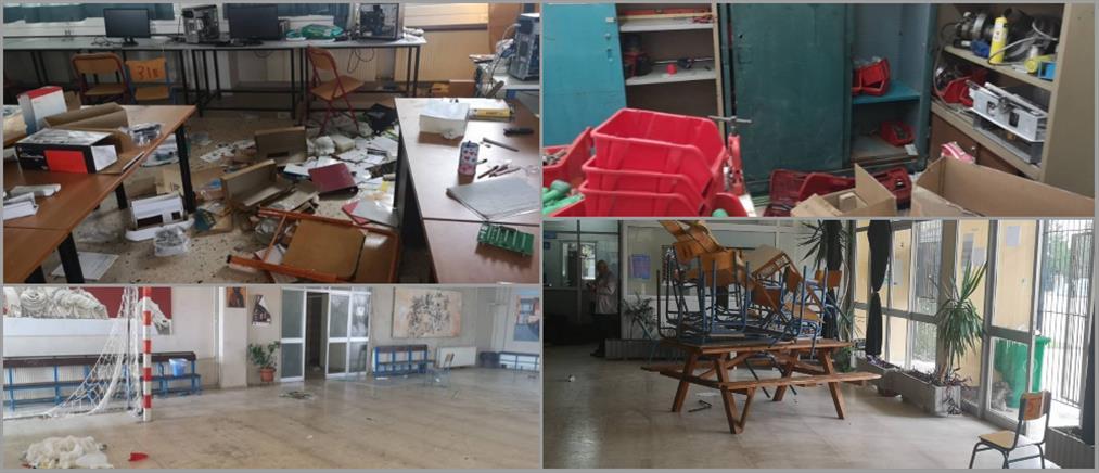 """Μουδανιά: """"Μπαχαλάκηδες"""" ισοπέδωσαν σχολείο (εικόνες)"""