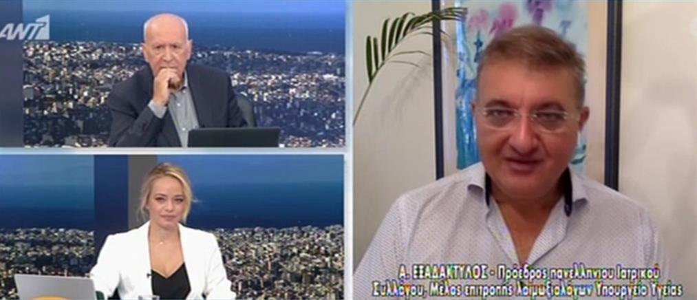 Εξαδάκτυλος στον ΑΝΤ1: δεν αποκλείεται να δούμε τετραψήφιο αριθμό κρουσμάτων (βίντεο)